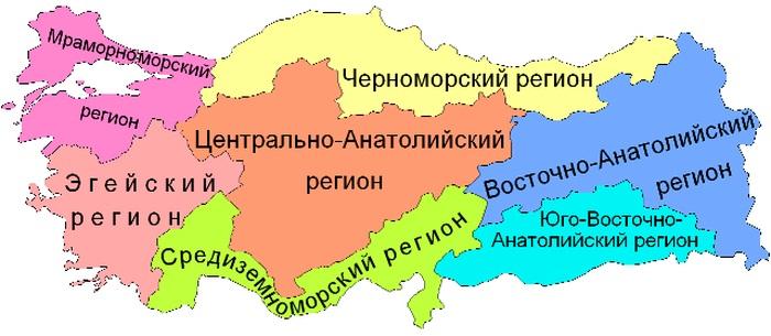 Карта Турции на русском языке географическая крупная. Города, курорты, отели, граница с государствами
