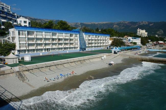 Отели Ялты. Названия и цены на берегу моря с бассейном, собственным пляжем на первой линии, все включено