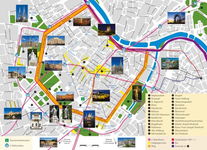 Вена, город. Достопримечательности на карте, описание, погода. Что посмотреть за 1 день в центре, старый город