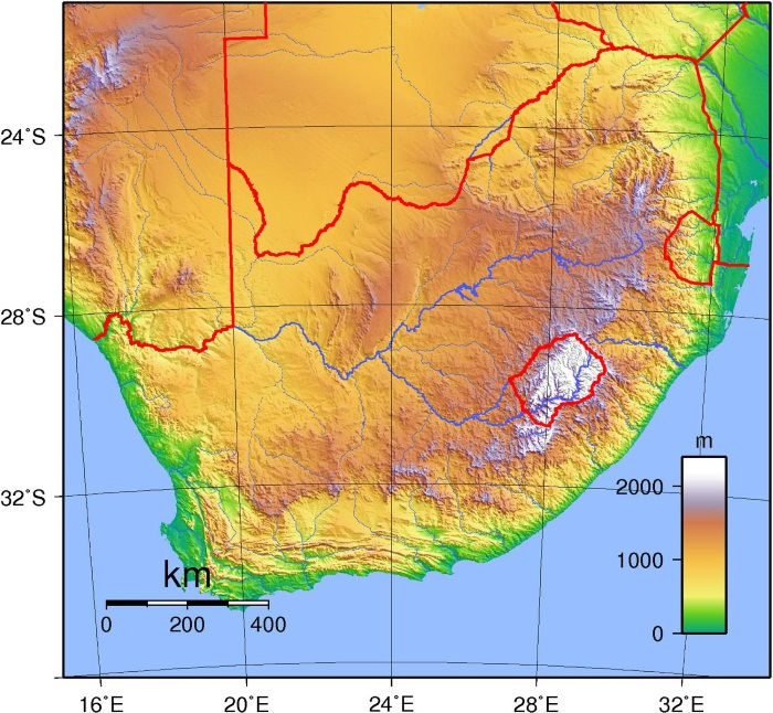 Африка. Карта со странами и столицами, площадь материка. Достопримечательности