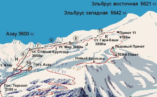 Эльбрус гора. Где находится на карте, высота, возраст, чем знаменита, восхождения