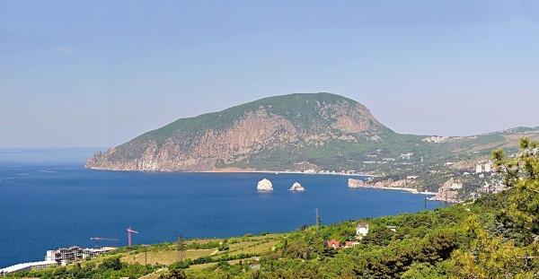 Гора Аю-Даг (медведь-гора) в Крыму