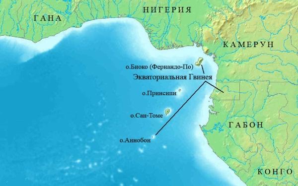 Гвинейский залив. Где находится на карте мира. Круизы, туры, курорты, отели