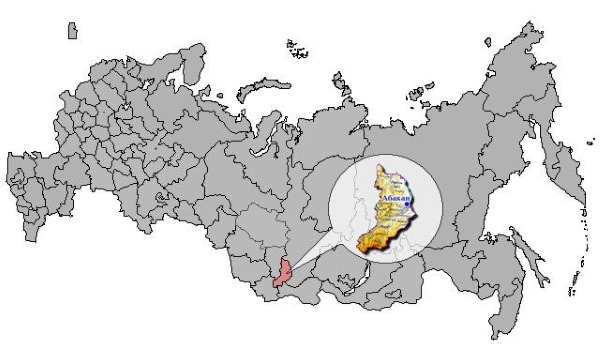 Карта Сибири с городами и областями подробная. Описание региона