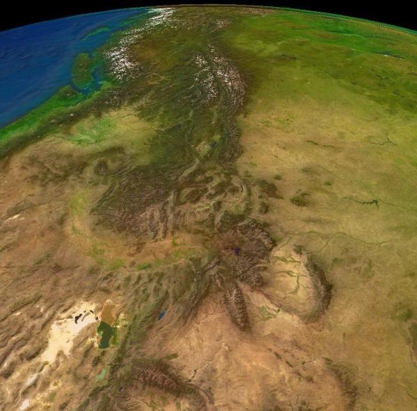 Кордильеры на карте мира, горы и вершины. Высота, где находятся. Складчатость, тектоническая структура