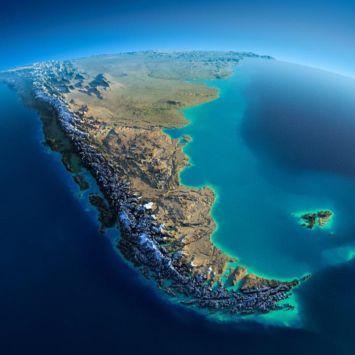 Магелланов пролив. На карте мира, полушарий. Кто открыл, координаты, какие острова разделяют