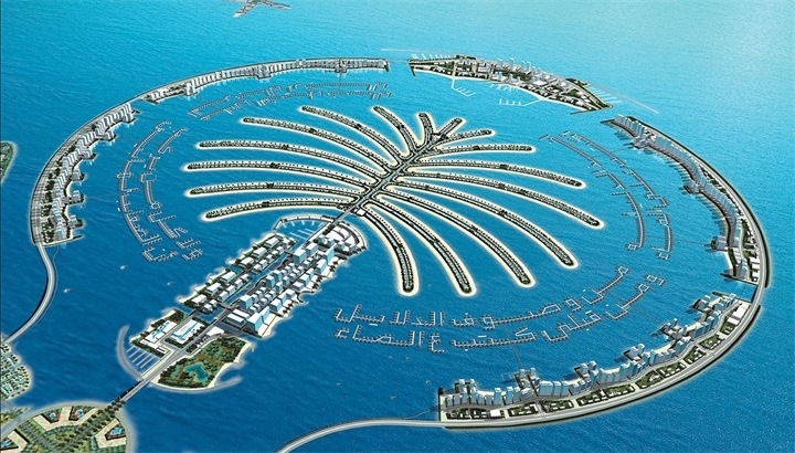 Пальма Джумейра Объединенные Арабские Эмираты. Фото, отели, как добраться до острова в Дубае в виде пальмы
