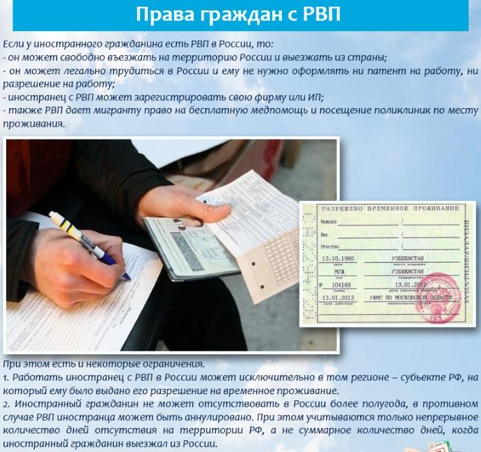 Фото разрешение на временное проживание в российской федерации