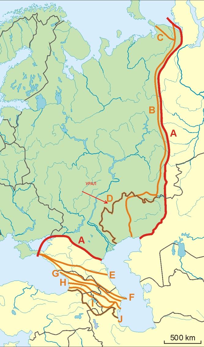Река Урал на карте России. Куда впадает, где находится, исток, характеристики