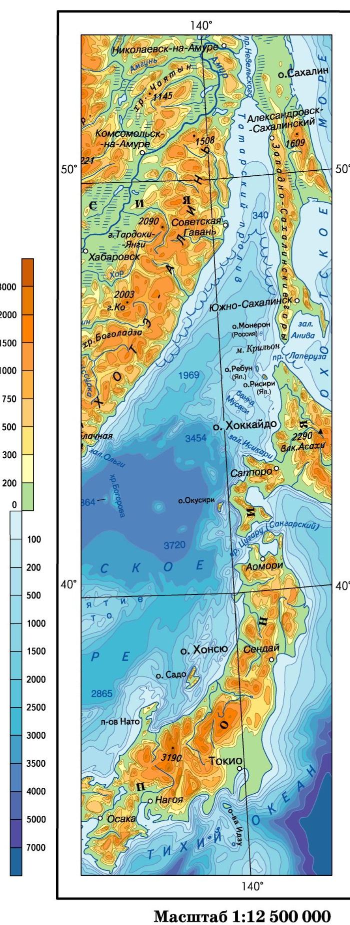 Сахалин на карте России, Сахалинская область. Где находится остров, климат