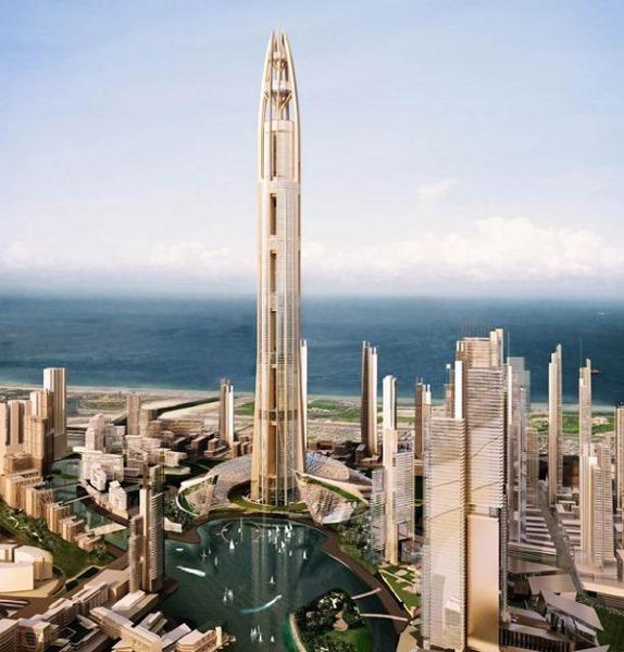 Самый большой небоскреб в мире. Фото, сколько этажей, высота, где находится