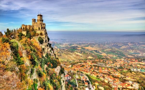 Сан-Марино на карте мира. Столица страны, достопримечательности, маршруты, интересные места