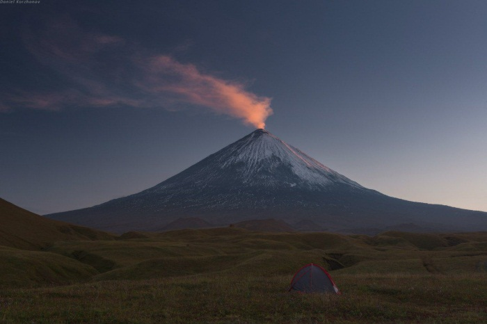 Действующие вулканы на карте мира с названиями, в России. Где расположены