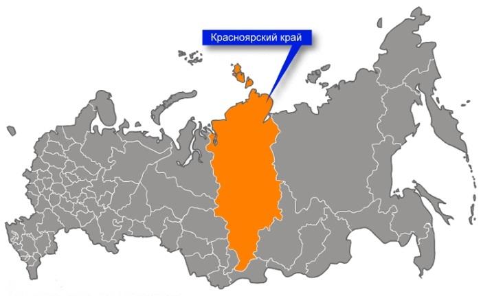 Красноярский край на карте России. Площадь, погода, описание, заповедники и достопримечательности