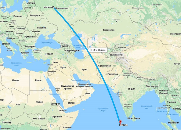 Мальдивы на карте мира. Сколько лететь из Москвы. Отели, погода, достопримечательности