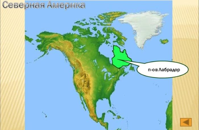 Полуостров Лабрадор на карте мира, где находится, координаты