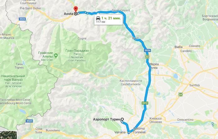 Горнолыжный курорт Аоста в Италии. Карта, спуски, фото, как добраться