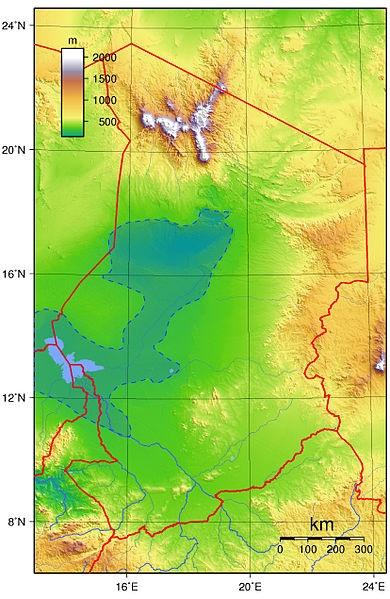 Озеро Чад на карте мира, Африки. Фото, где находится, координаты, страны, чем примечательно