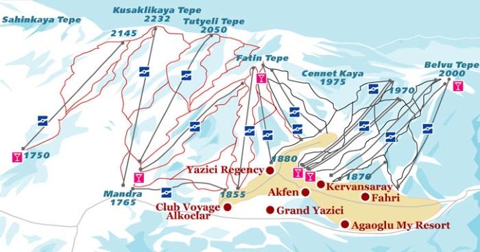 Горнолыжный курорт Улудаг в Турции. Карта трасс, отели, фото, цены, как добраться