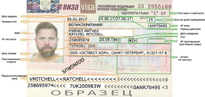 Виза в Россию для иностранца. Цена, документы, срок, требования, как оформить по приглашению
