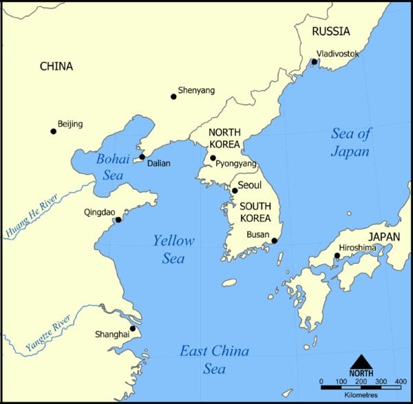 Желтое море. Где находится на карте мира, куда впадает, характеристики, фото