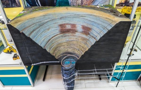 Алмазный карьер г.Мирный Якутия. Фото, вид из космоса, размеры, история