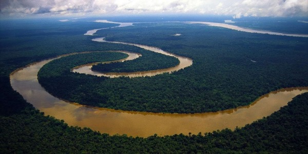 Расположение реки амазонка