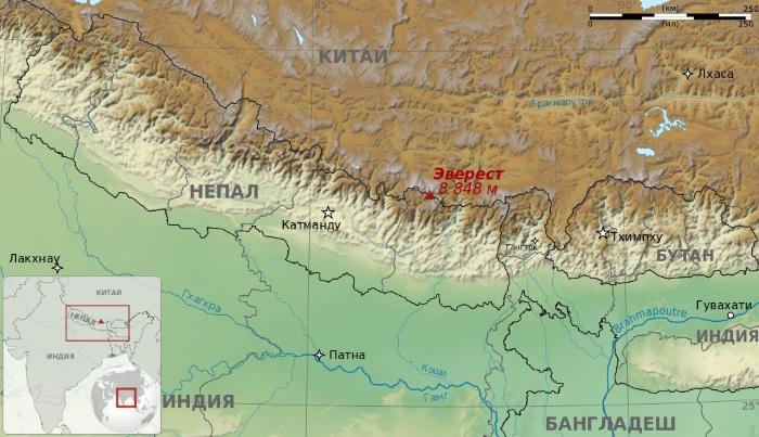 Эверест гора. Координаты. Фото, где находится на карте, страны, характеристики