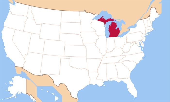 Штаты США на карте на русском языке со столицами, городами. Список