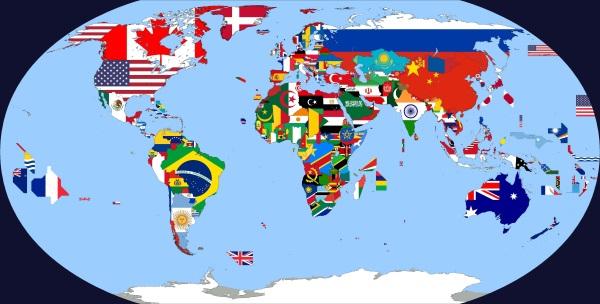 Страны мира. Список по алфавиту в таблице: столицы, города, площадь, численность населения, флаги