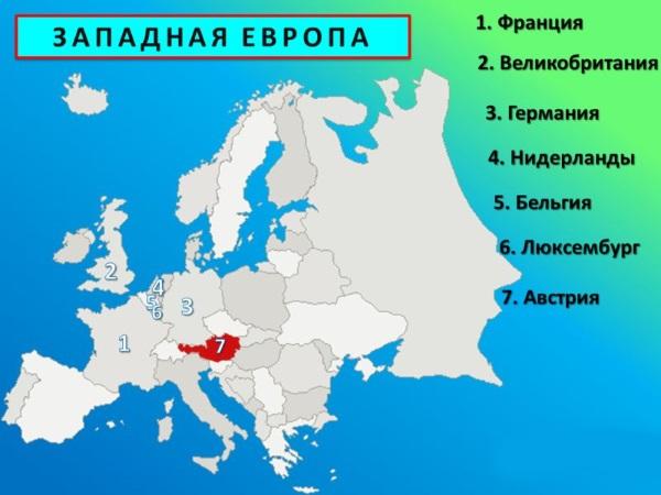 Уровень урбанизации (причины) Европы Северной, Восточной, Южной, Западной и мировых стран