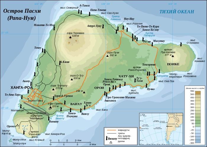 Остров Пасхи. Фото, где находится, интересные факты, истуканы, достопримечательности, история
