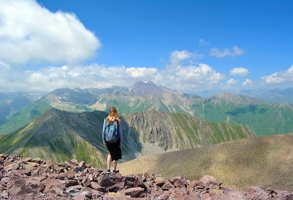 Казбек гора. Высота над уровнем моря, где находится на карте России, Грузии, координаты, восхождение