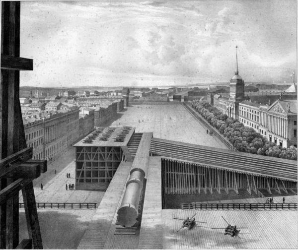 Александрийский столп на Дворцовой площади в Санкт-Петербурге. История, фото, интересные факты