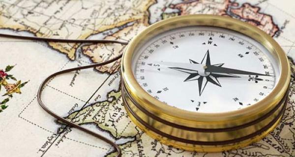 Как определить азимут на контурной карте