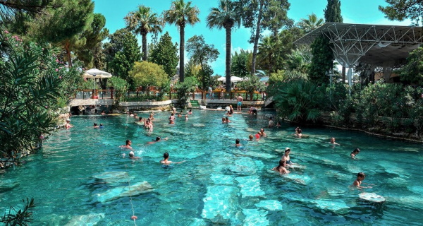 Бассейн Клеопатры в Памуккале, Турция. Фото, история, состав воды, температура