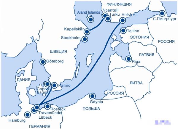 Паром из Хельсинки в Германию. Цены, расписание, время в пути