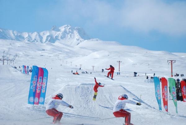 Кайсери Турция горнолыжный курорт Эрджиес. Схема трасс, карта