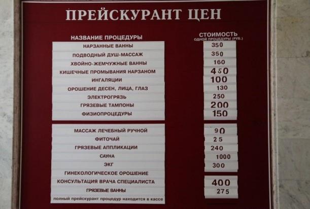 Октябрьские ванны Кисловодск. Цены на 2020 год