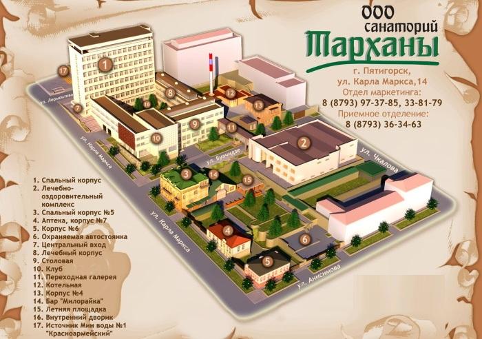 Санаторий Тарханы, Пятигорск. Цены с лечением, фото, отзывы, как добраться