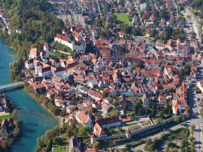 Фюссен. Достопримечательности, описание, карта окрестностей, маршрут для туриста