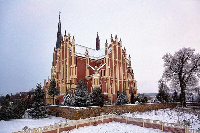 Церковь Святой Троицы, Гервяты. История костёла, фото, расписание богослужений