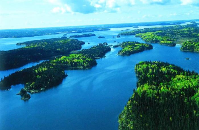 Озеро Виннипег. Где находится на карте мира, фото
