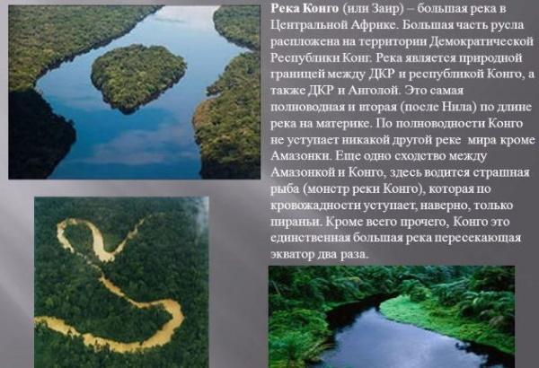 Река Конго. Где находится, куда впадает, граница бассейна